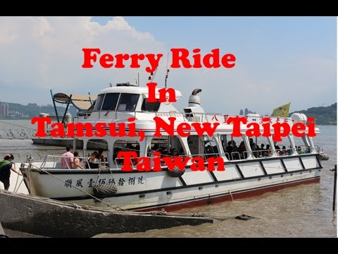 Ferry Ride in Tamsui River, New Taipei, Taiwan