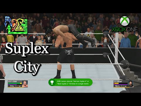 WWE 2K16 - Suplex City Achievement - Brock Lesnar vs Seth Rollins