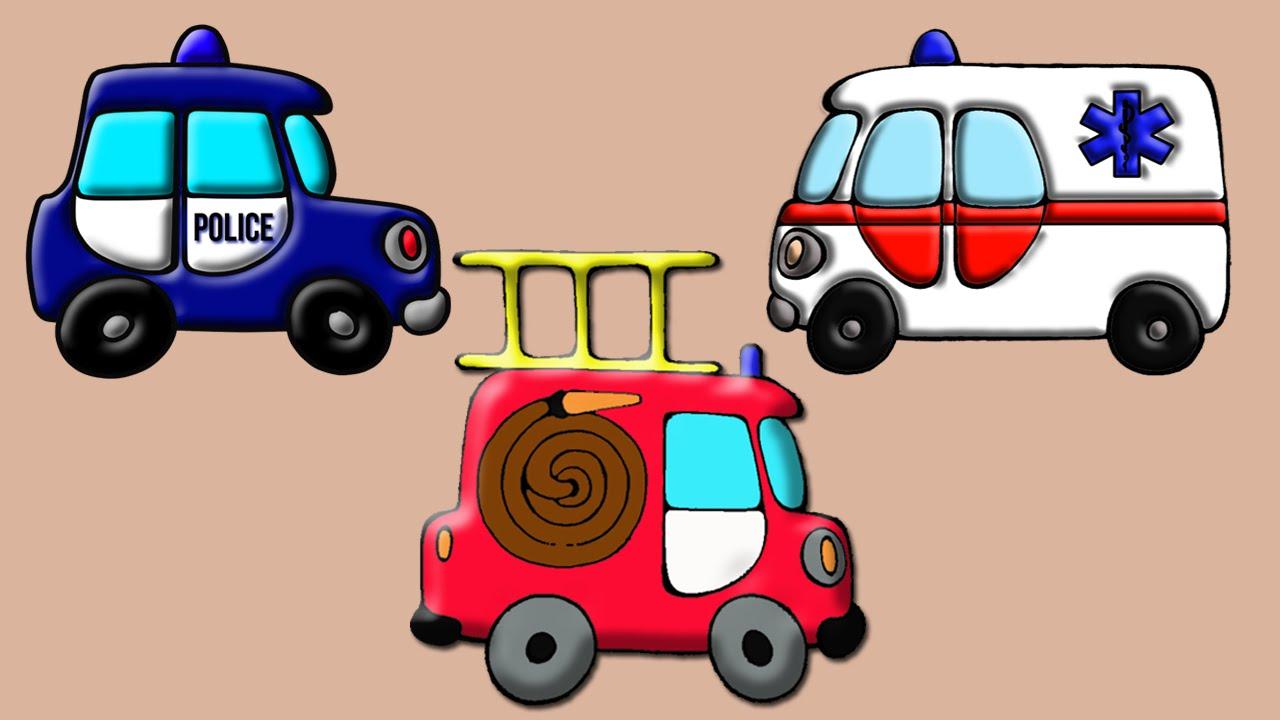 Мультик про полицейскую машинку, скорую помощь и пожарную ...