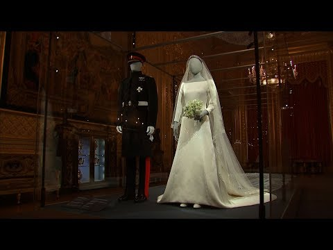 Duke and Duchess of Sussex's wedding outfits go on display