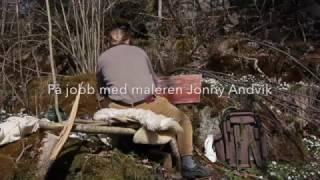 På jobb med maleren Jonny Andvik
