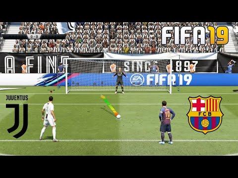 Пенальти FIFA 19 ||  Ювентус - Барселона || Серия пенальти || Роналду против Месси || # 1