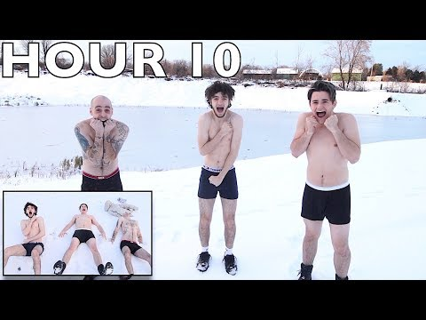 Last to Leave Freezing Snow Wins $5,000 - Challenge (Remove 1 Piece of clothing every 10 mins)