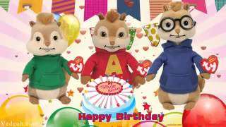 Happy Birthday Song ♥ Alvin and The Chipmunks ♥ Nursery Rhymes Kids Songs