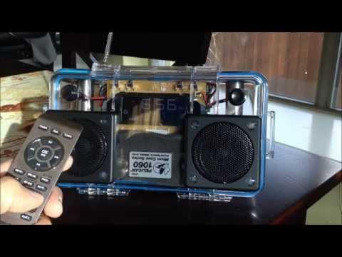 DIY Hacked Clock Radio Mini Pelican 1060 BoomBox w/Bluetooth!