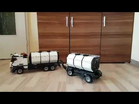lego technic 42043 mercedes tanker tankzug youtube. Black Bedroom Furniture Sets. Home Design Ideas