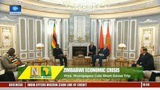 Zimbabwe Economic Crisis: Mnangagwa Cuts Short Davos Trip |Network Africa|