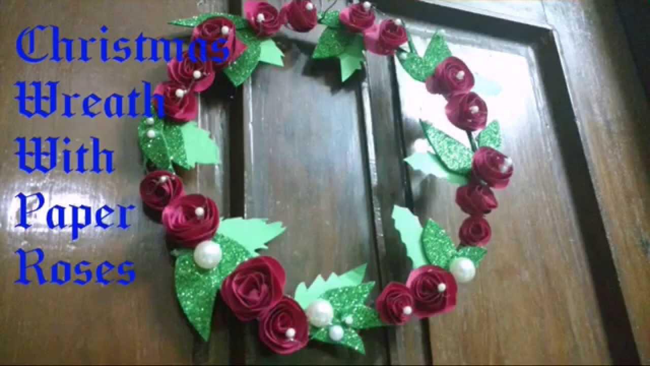 How To Make Paper Rose Wreath Handmade DIY