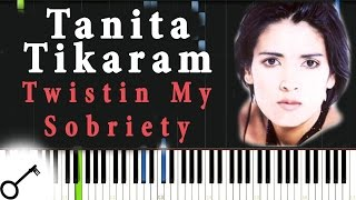 Tanita Tikaram - Twistin My Sobriety [Piano Tutorial] Synthesia | passkeypiano