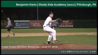 Benjamin Hartz (P) | Shady Side Academy (2012) | Pittsburgh, PA