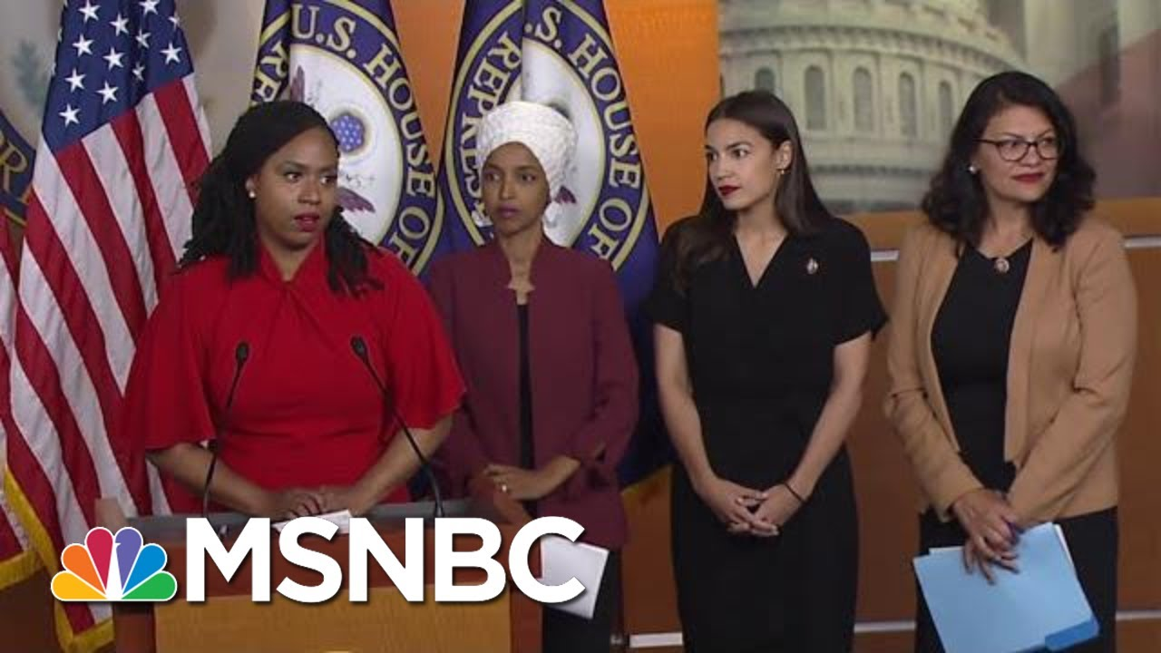 Full 'Squad' Press Conference In Response To President Donald Trump's Attacks | MTP Daily | MSNBC - YouTube