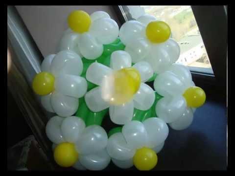 Нежный букет ромашек из воздушных шаров