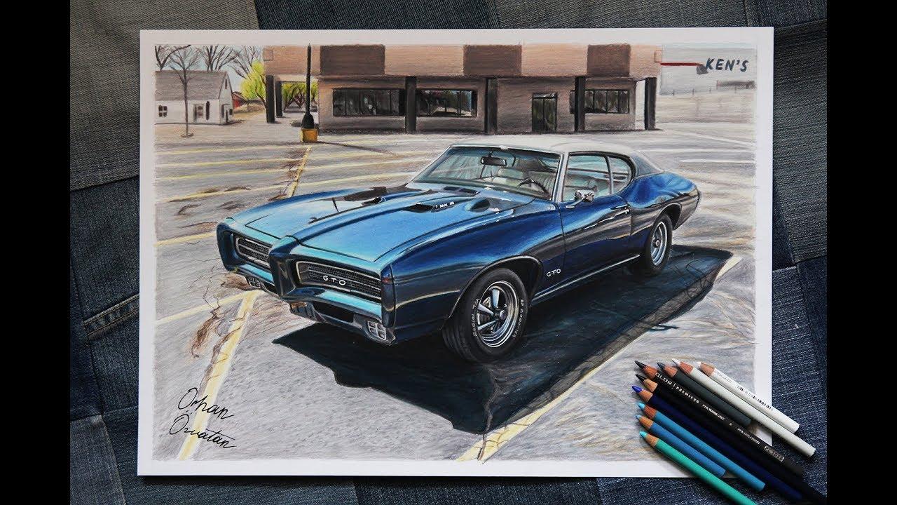 1969 pontiac gto american v8 muscle car drawing orhan ozvatan1969 pontiac gto american v8 muscle car drawing orhan ozvatan