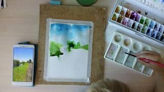Мастер-класс: рисование с ребенком. Рисуем пейзаж.