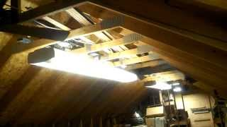Video Tour of Vintage/Antique Fans and Lighting in my Organ Shop (UPDATES)