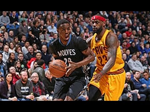 49b096b241d2 Lebron James and Andrew Wiggins Duel it Out in Minnesota - YouTube