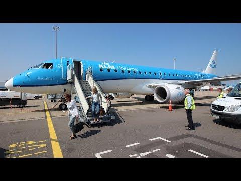 KLM Cityhopper KL1406 Business Class Embraer 190 PH-EZG  MPL/AMS