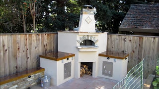 Folsom Wood Burning Pizza Oven W/ Beautiful Concrete Countertops By Gpt Construction