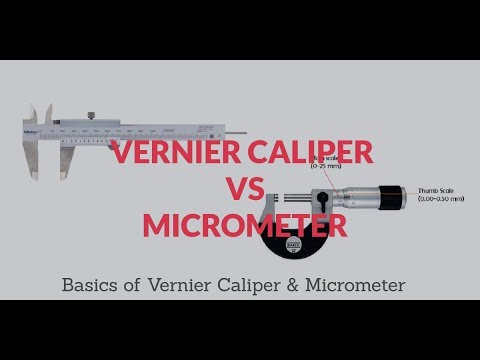 Difference Between Vernier Caliper And Micrometer | By Gaugehow