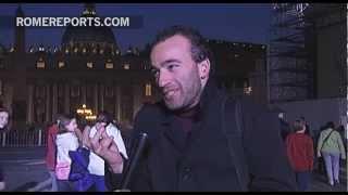 Emoción en San Pedro al decirle adiós al Papa cuando sobrevolaba Roma