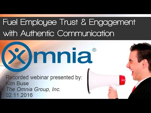 Fuel Employee Trust and Engagement with Authentic Communicat