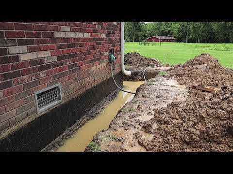 My House had no Footer Drain Tile! Water in Crawlspace FIX