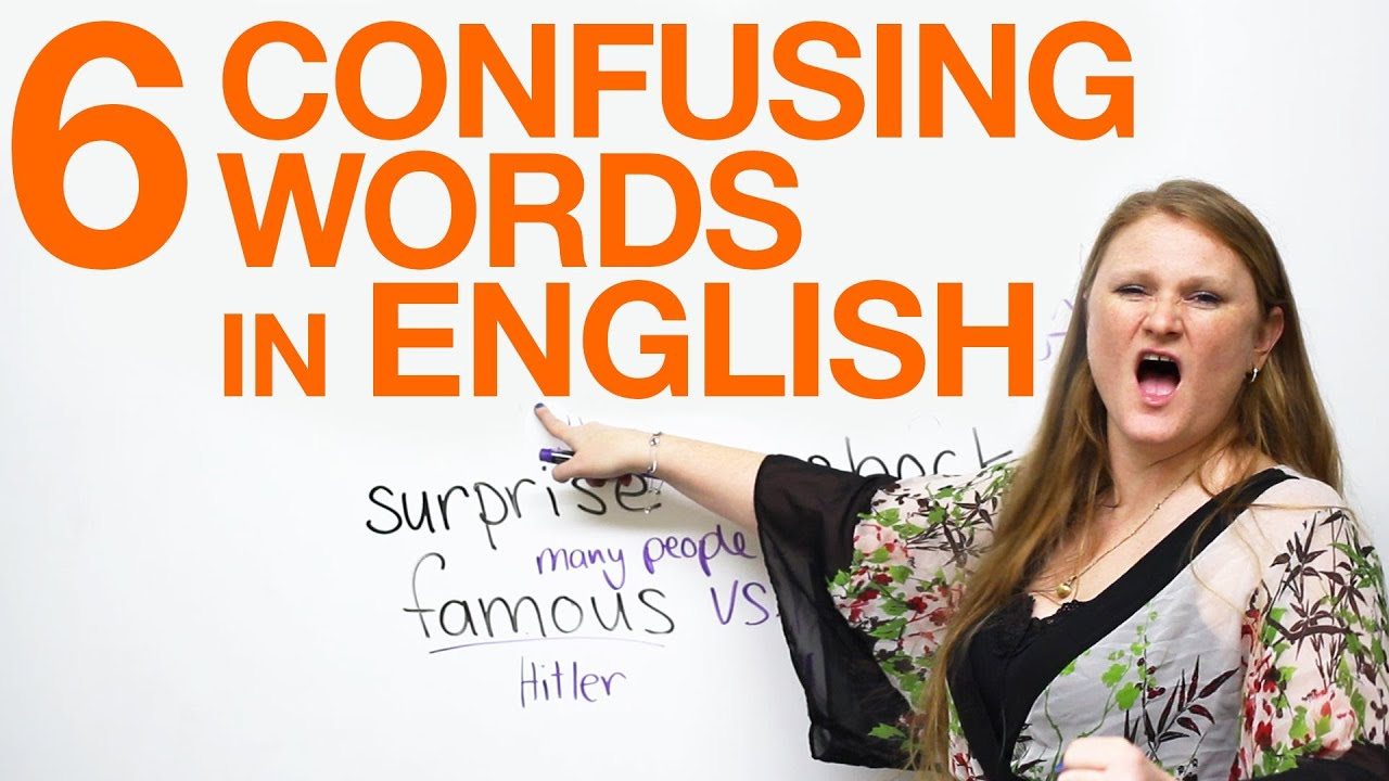 6 Confusing Words fun funny famous popular surprise