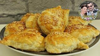 Аля САМСА. Ленивые пирожки с мясом из слоеного теста в духовке. Вкусно и просто. Кухня в кайф