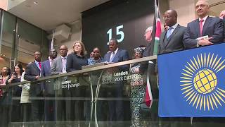 Video Uhuru Kenyatta Opens the Market at the London Stock Exchange download MP3, 3GP, MP4, WEBM, AVI, FLV September 2018