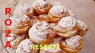 ROZA  ♥ ŞİRNİYATI RESEPTİ ♥ TEZ ASAN VƏ DADLI ♥ Печенье Роза Рецепт