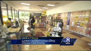 Lumber Liquidators suspends sale of laminate flooring