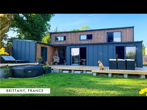 Luxury 6 Shipping Container House in Dinan, Brittany, France