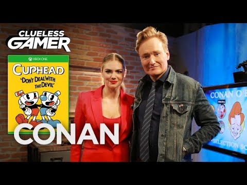 "Thumbnail: Clueless Gamer: ""Cuphead"" With Kate Upton - CONAN on TBS"