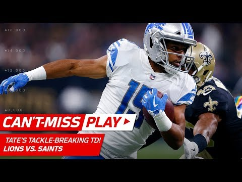 Golden Tate Breaks Big Tackles & Flips into the End Zone for a TD! | Can't-Miss Play | NFL Wk 6