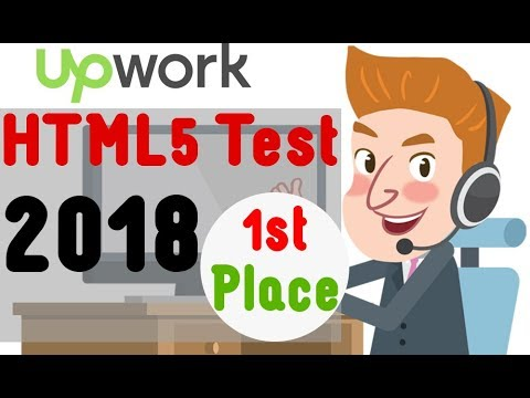 Upwork HTML5 Test 2018 - First Place (4.95 out of 5)  [updated]