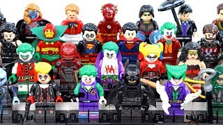 Batman The Telltale Series Gotham Joker Flash & Captain America Unofficial LEGO Minifigures