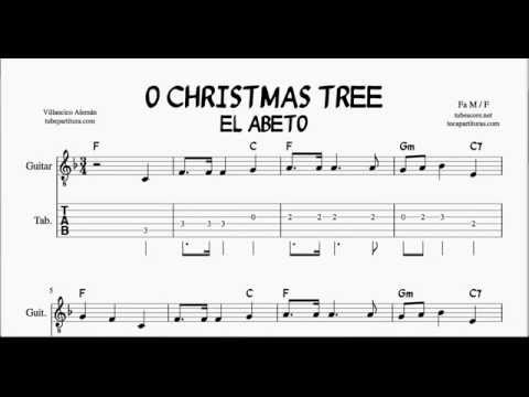 Christmas Tree In Major Tabs Sheet Music For Guitar With Chords El Abeto