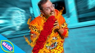 We Made a GIANT Flamin' Hot Cheeto and Ate It!!!! *GONE WRONG*