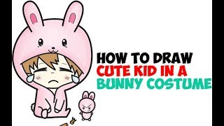 How to Draw a Cute Chibi Boy or Girl in Bunny Pajamas Onesie Easy Step by Step Drawing