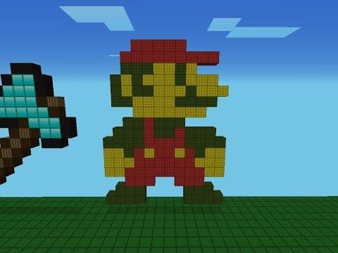 Minecraft Pixel Art: Como Hacer A Mario Bros [1985] - YouTube