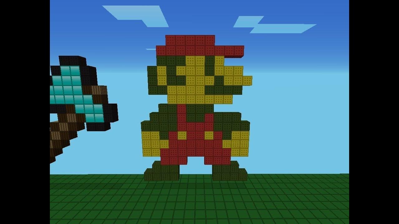 Minecraft Pixel Art Como Hacer A Mario Bros 1985