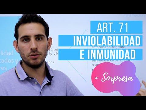 Inviolabilidad e Inmunidad de los Diputados y Senadores. Art. 71 de la C.E.