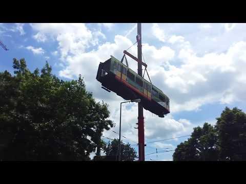 Straßenbahn Unfall in Karlsruhe 16.6.2017