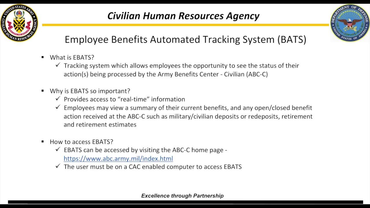 2018 ABC EBATS Army Benefits