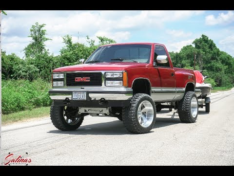 oldie but goodie 1990 gmc sierra obs single cab lifted on 20x12 1985 Chevy Short Bed 4x4 Truck oldie