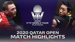 Liam Pitchford vs Xu Xin | 2020 ITTF Qatar Open Highlights (1/2)