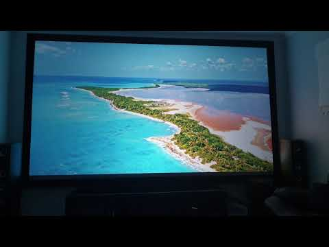 """Latest optoma gt1080hdr review on a 150"""" 16:9 hi contrats grey screen, worlds best gaming projector?"""