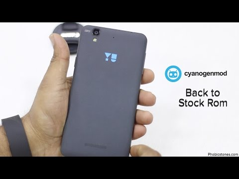 YU Yureka Back to Stock Rom(Kitkat) from Custom Rom(Kitkat) Tutorial - Cyanogenmod