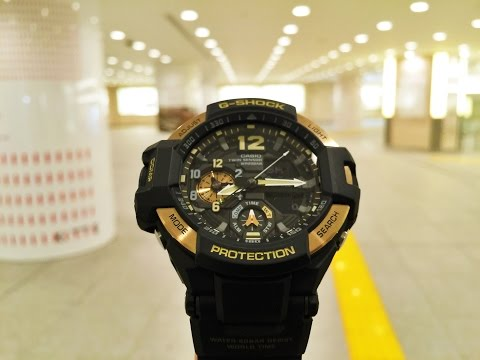 G-Shock GA-1100-9GJF Skycockpit Gravitymaster Gold Black (unboxing + review)
