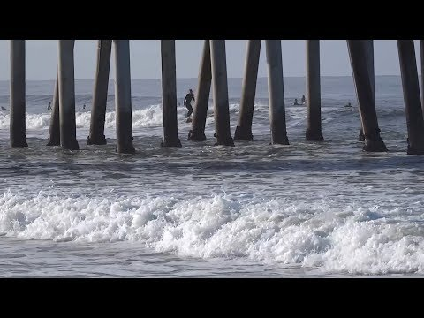 Huntington Beach, CA, Surf, 3/18/2018 - Part 4 (1080p)